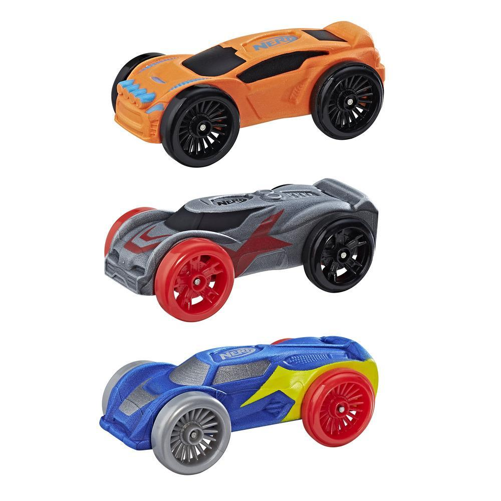 Nerf Nitro - Trío de autos de espuma
