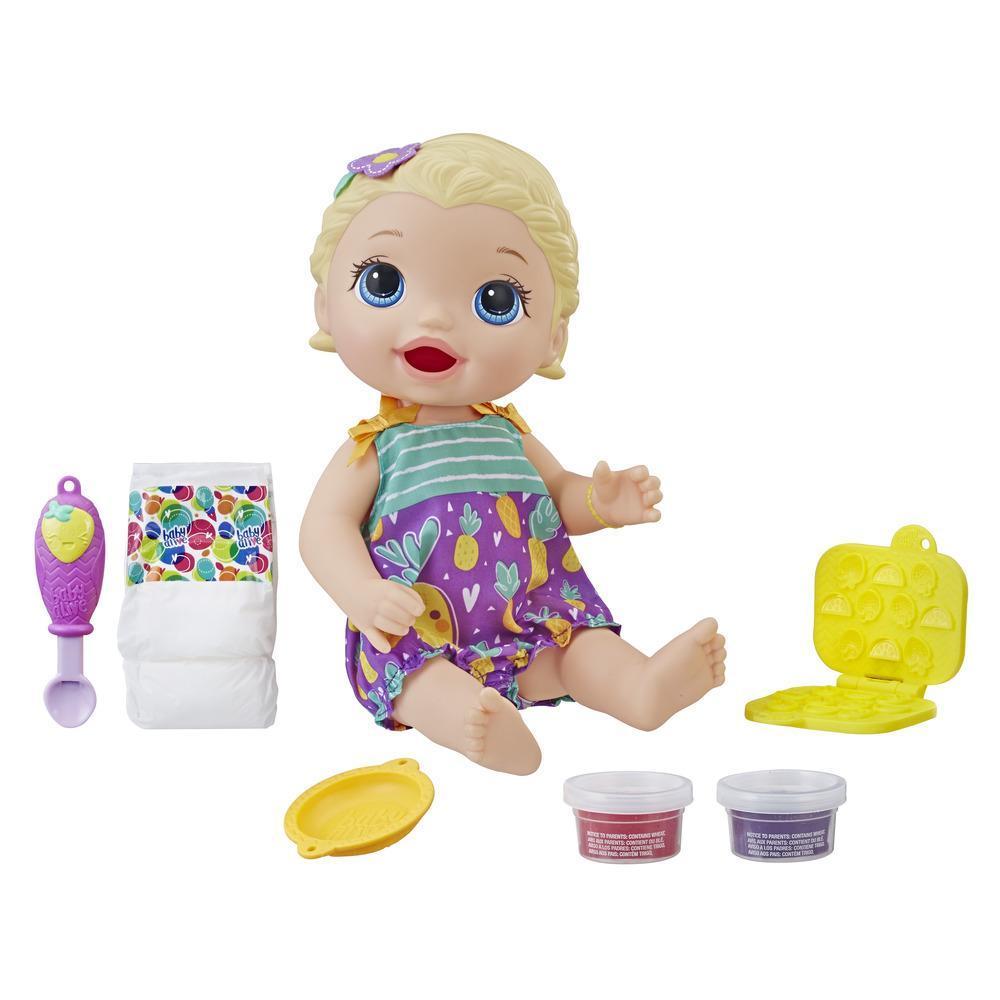 Baby Alive Bebé Hora de comer - Cabello rubio