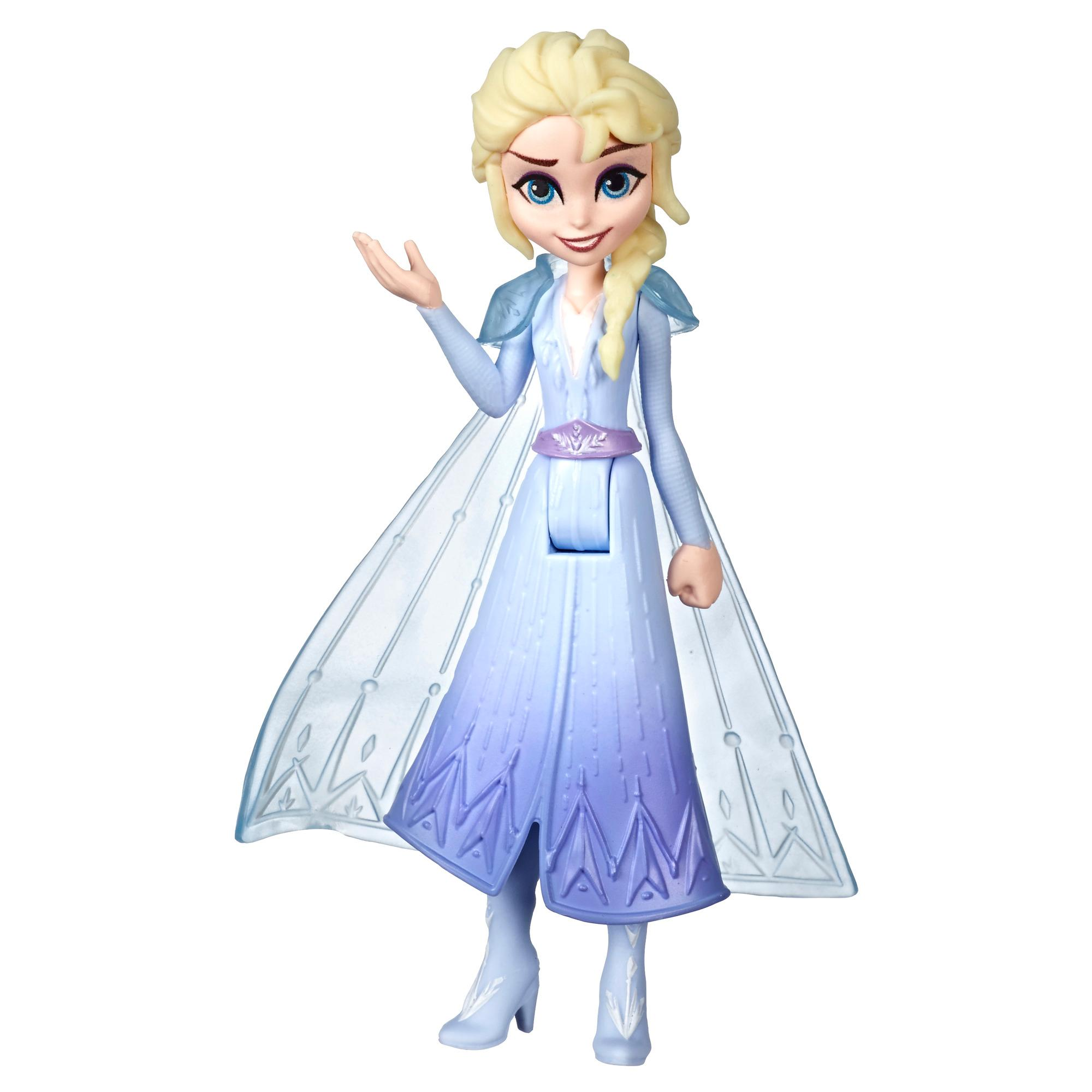 Disney Frozen - Pequeña muñeca de Elsa con capa removible, inspirada en Frozen 2