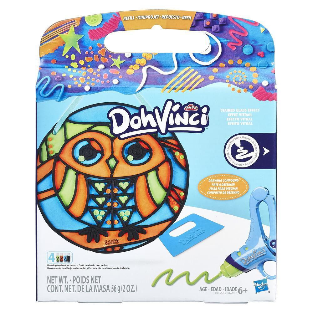 Play-Doh DohVinci Repuesto de juego Efecto vitral - Lechuza