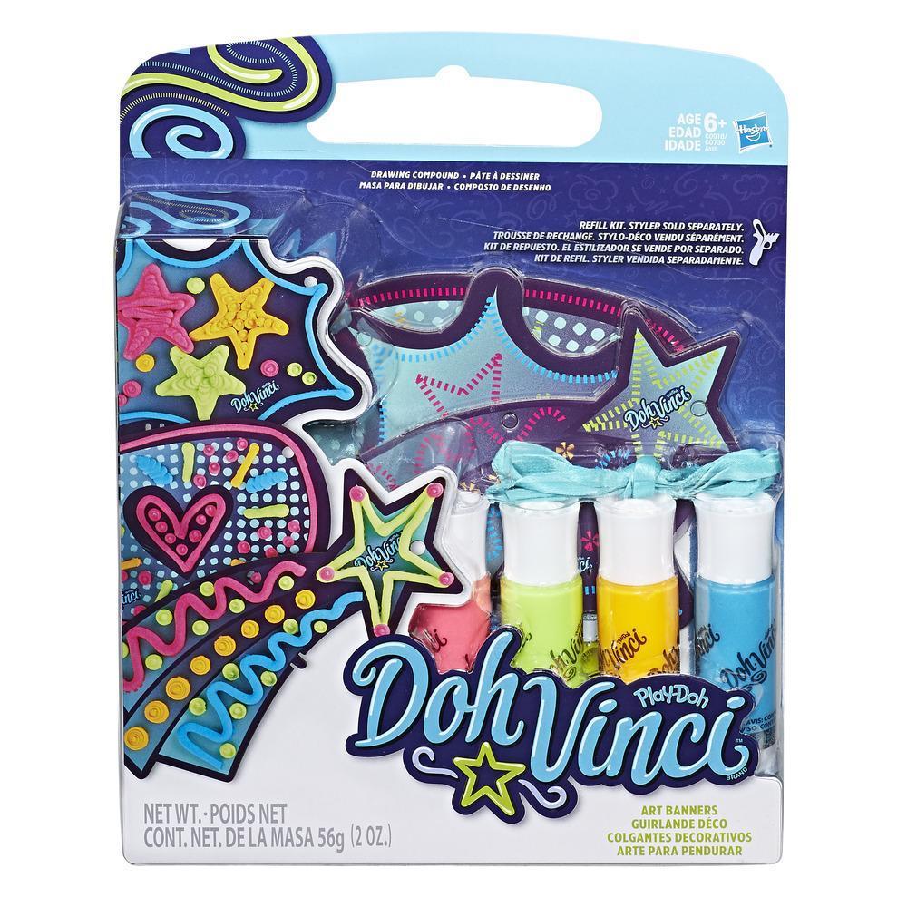 Play-Doh DohVinci Kit de repuesto Colgantes decorativos - Temática garabatos