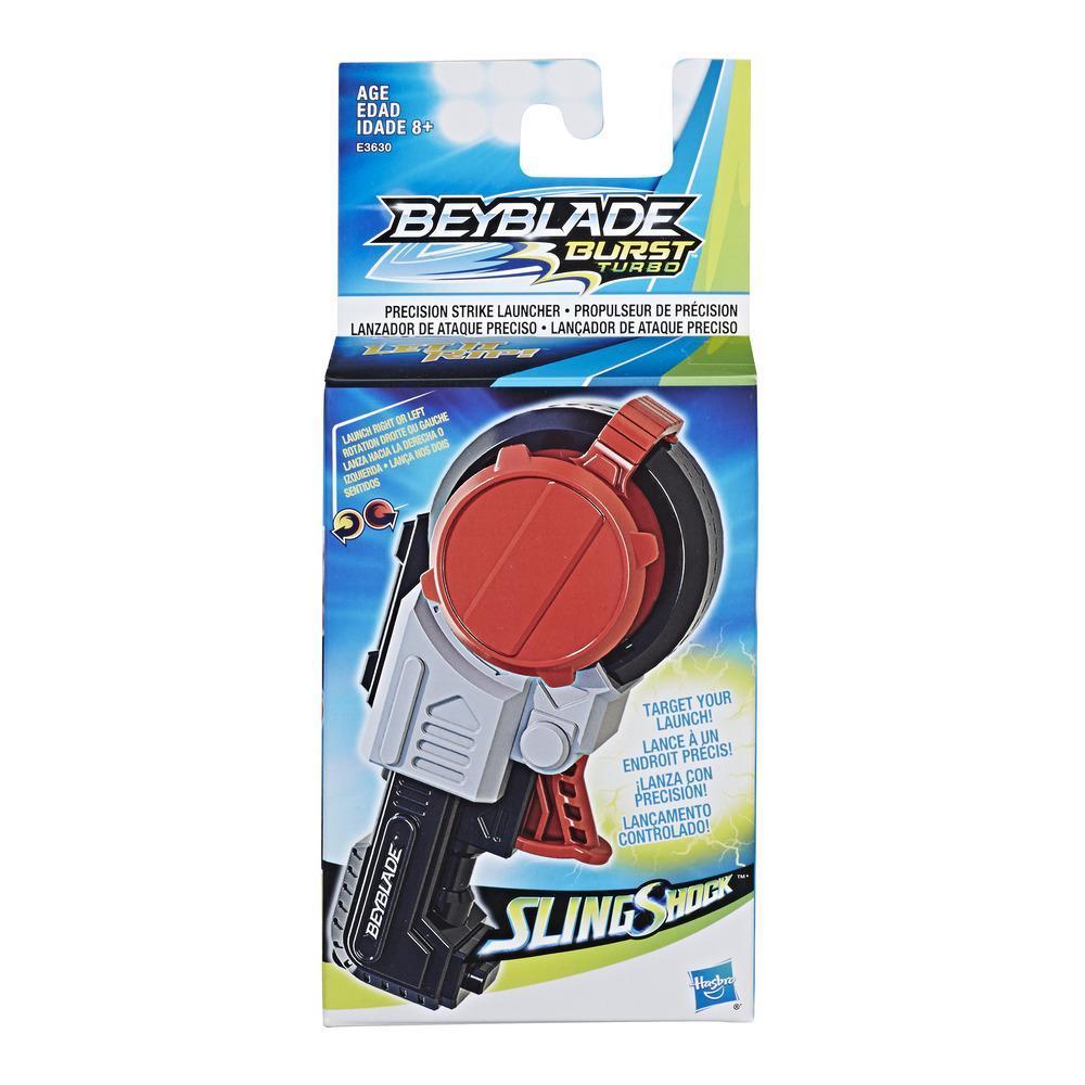 Beyblade Burst Turbo Slingshock Lanzador de ataque preciso – Compatible con tops de rotación derecha/izquierda - 8 años en adelante