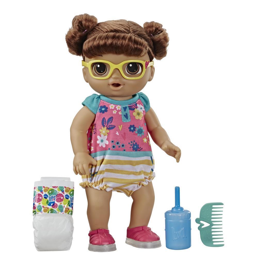 Muñeca Bebé pasos y risas de Baby Alive, con cabello rubio y zapatos que se iluminan
