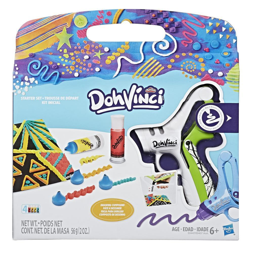 Play-Doh DohVinci - Kit inicial con boquillas de dibujo