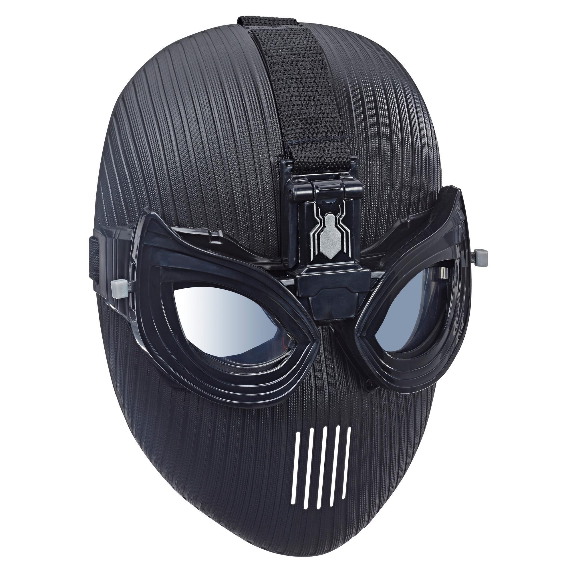 Marvel Spider-Man: Lejos de casa - Máscara del traje de sigilo del Hombre Araña para juego de rol – Máscara de superhéroe de juguete