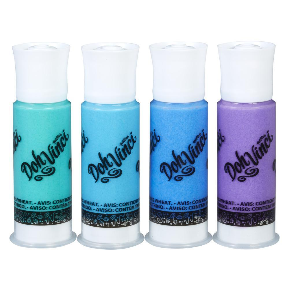 DohVinci Deco Pop 4-Pack - Blue, Green, and Violet Drawing Compound