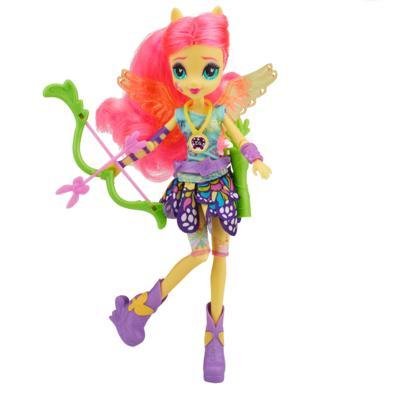 Muñeca My Little Pony Equestria Girls Fluttershy Estilo deportivo: Arquería