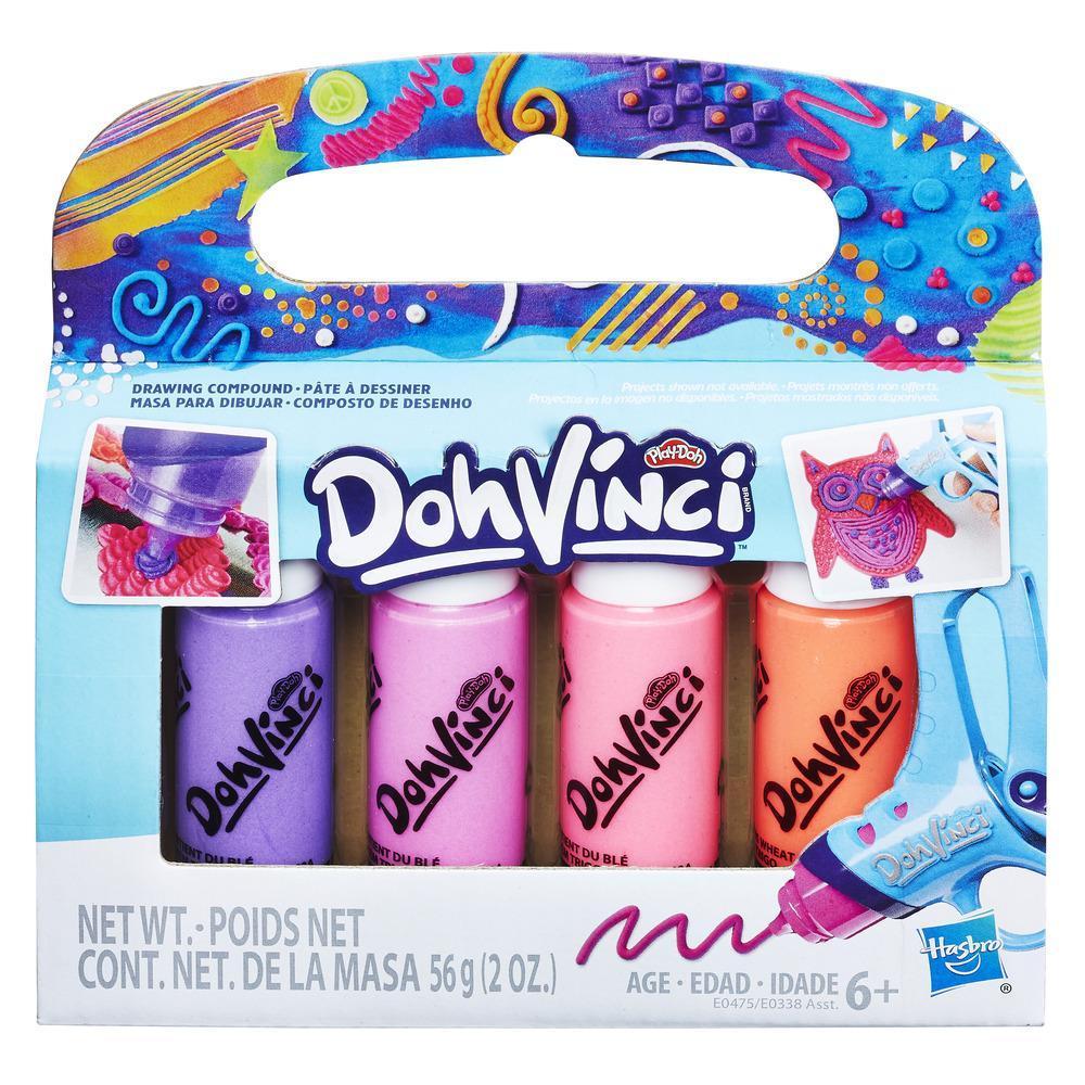 Play-Doh DohVinci Masa para dibujar, empaque de 4 - Rosados y morados