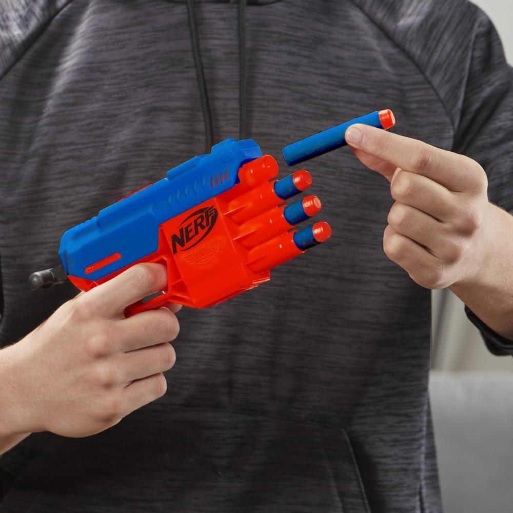 Set de puntería Fang QS-4 -- Set Nerf Alpha Strike de 13 piezas incluye 1 lanzador de juguete, 4 piezas de objetivos y 8 dardos Nerf Elite oficiales para niños, adolescentes y adultos