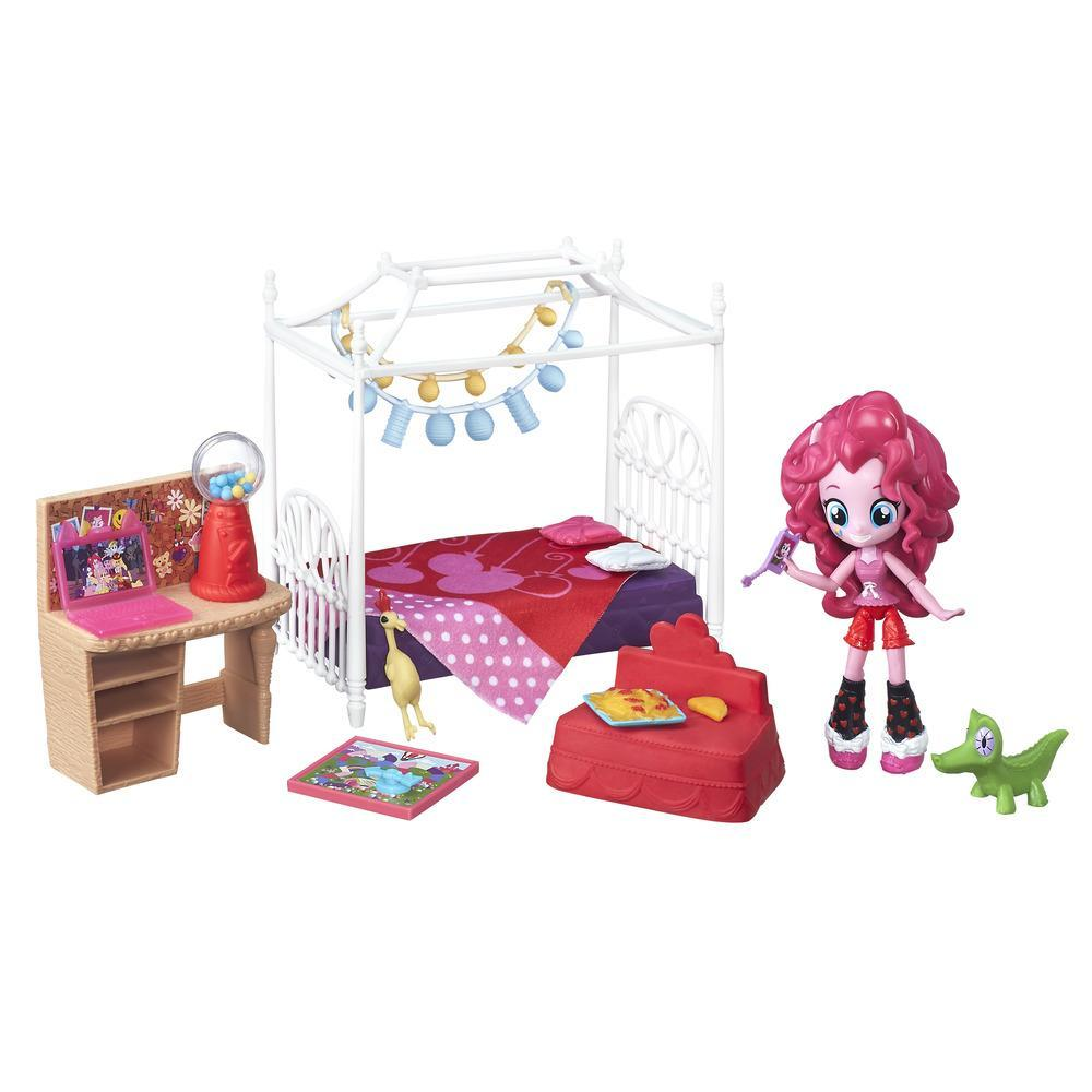 Dormitorio para pijamada pony de Pinkie Pie My Little Pony Equestria Girls Minis