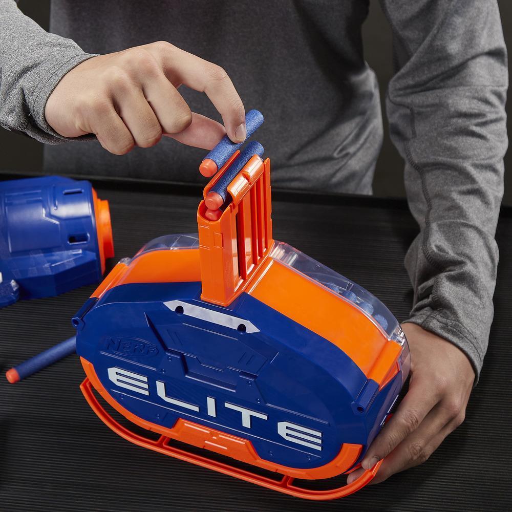 Lanzador Titan CS-50 Nerf Elite - Totalmente motorizado, Tambor de 50 dardos, 50 dardos Nerf Elite oficiales, cañón giratorio - Para niños, adolescentes y adultos