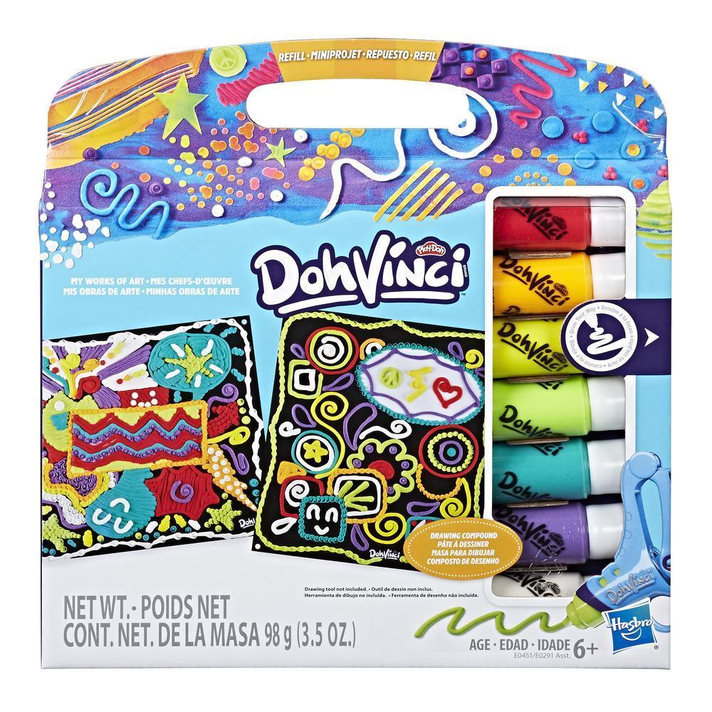 Play-Doh DohVinci Repuesto de Mis obras de arte - Diseños