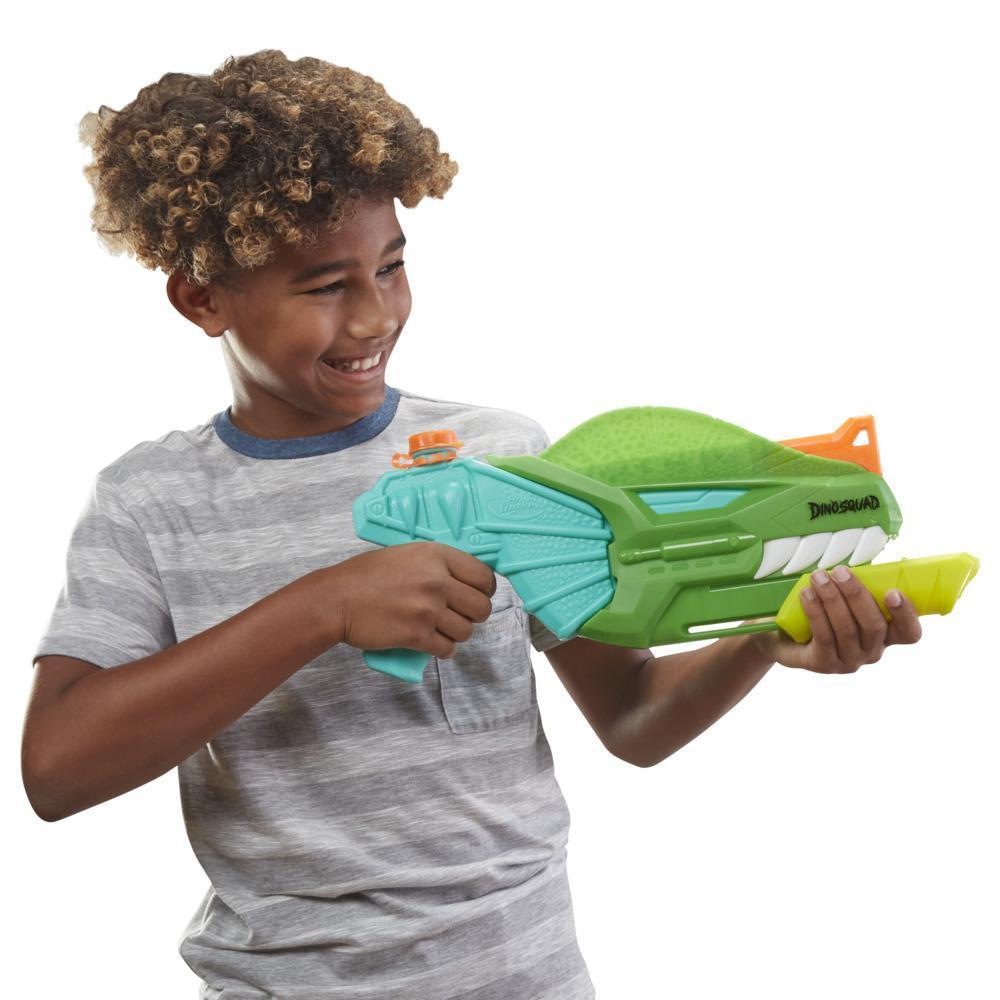 Lanzador de agua Nerf Super Soaker DinoSquad Dino-Soak -- Lanzador de bombeo para juegos acuáticos
