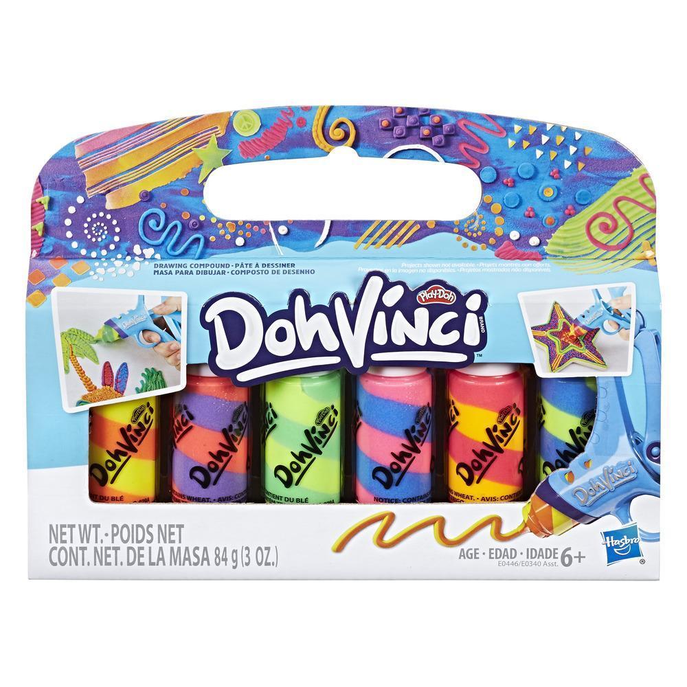 Play-Doh DohVinci Masa para dibujar, empaque de 6 - Colores mezclados