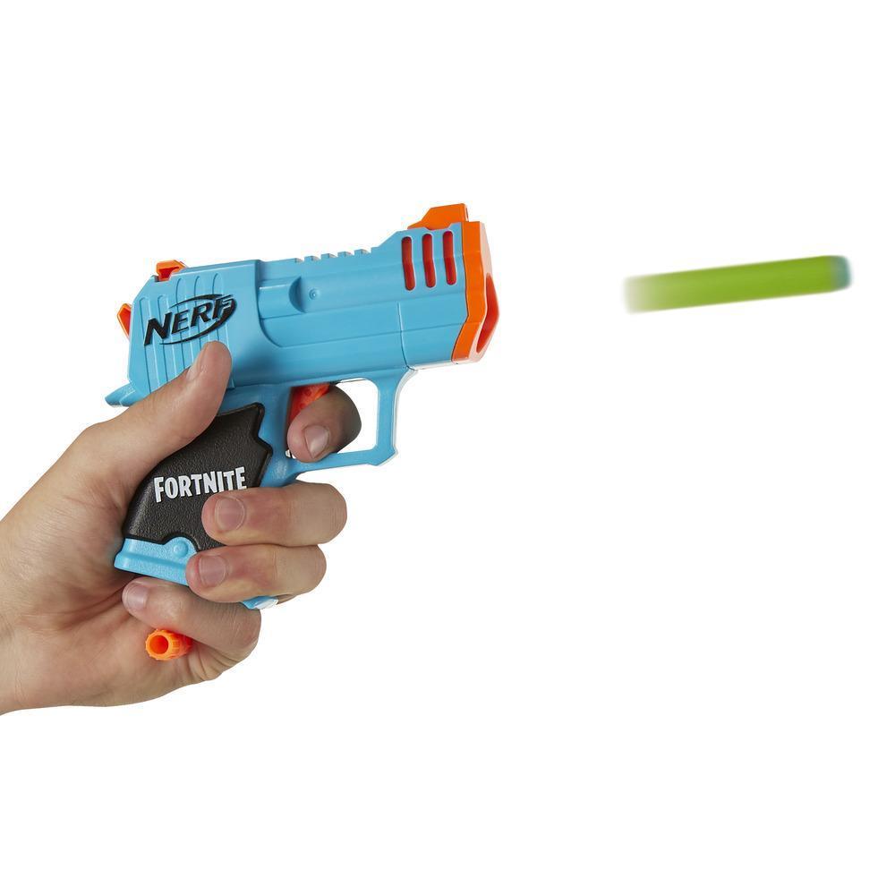 Lanzadardos de juguete Micro HC-R MicroShots y 2 dardos Nerf Elite oficiales