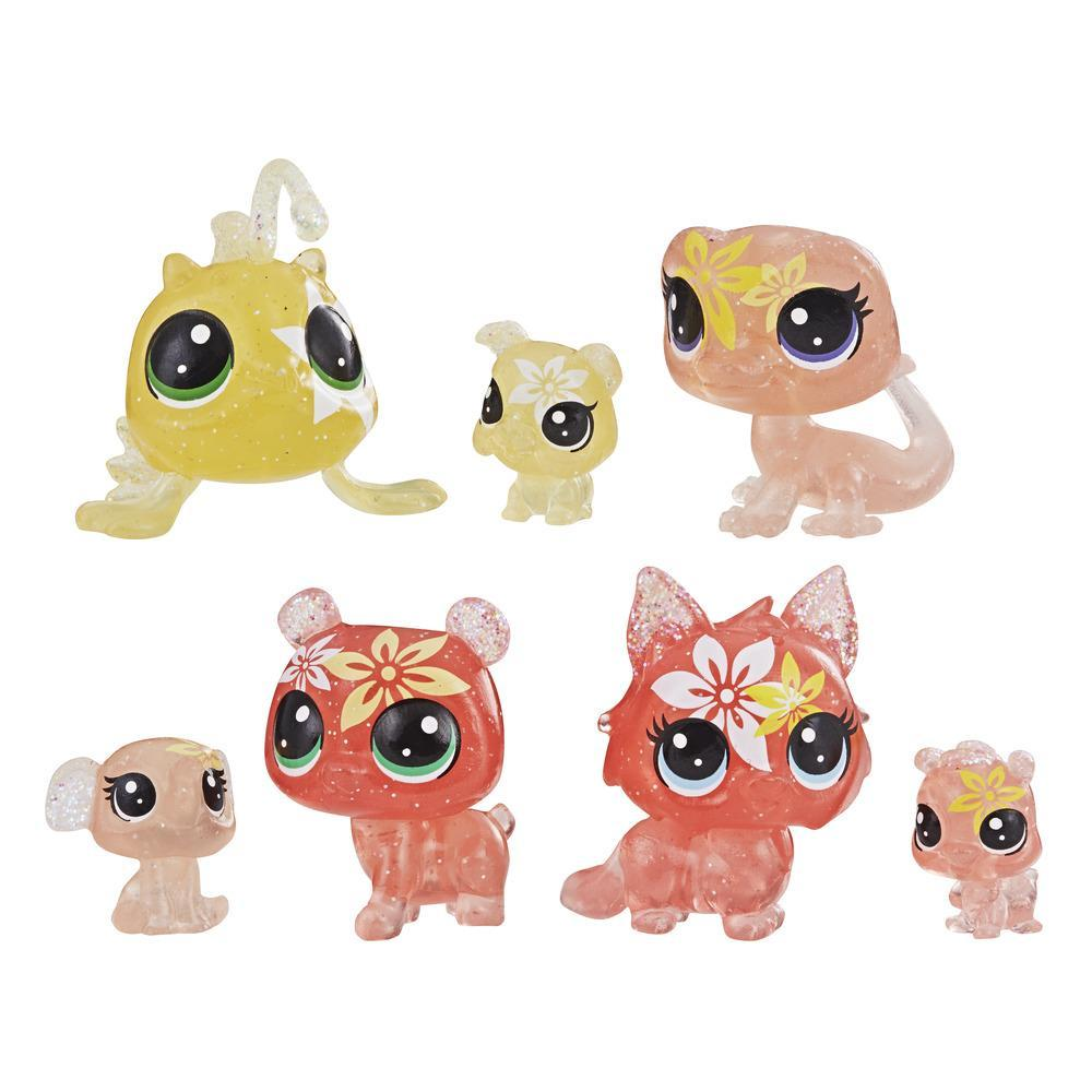 Littlest Pet Shop - Colección Lirios atigrados, 7 mascotas, parte de la colección Fiesta de Pétalos LPS