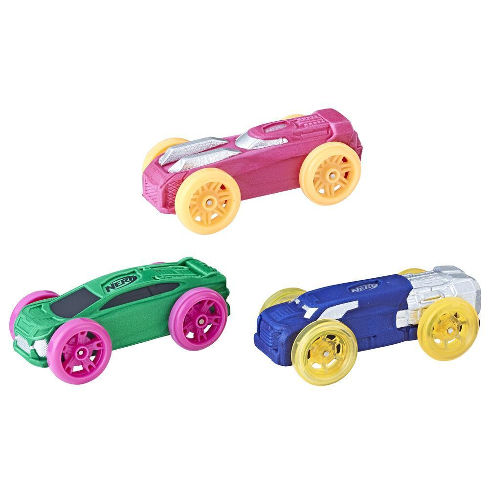 Nerf Nitro - Set de 3 autos de espuma (versión 10)