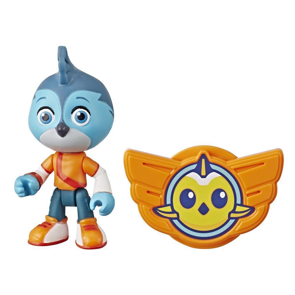 Figura Top Wing de Swift de 7,5 cm e insignia para ponerse del programa de Nick Jr., juguete para niños de 3 años en adelante