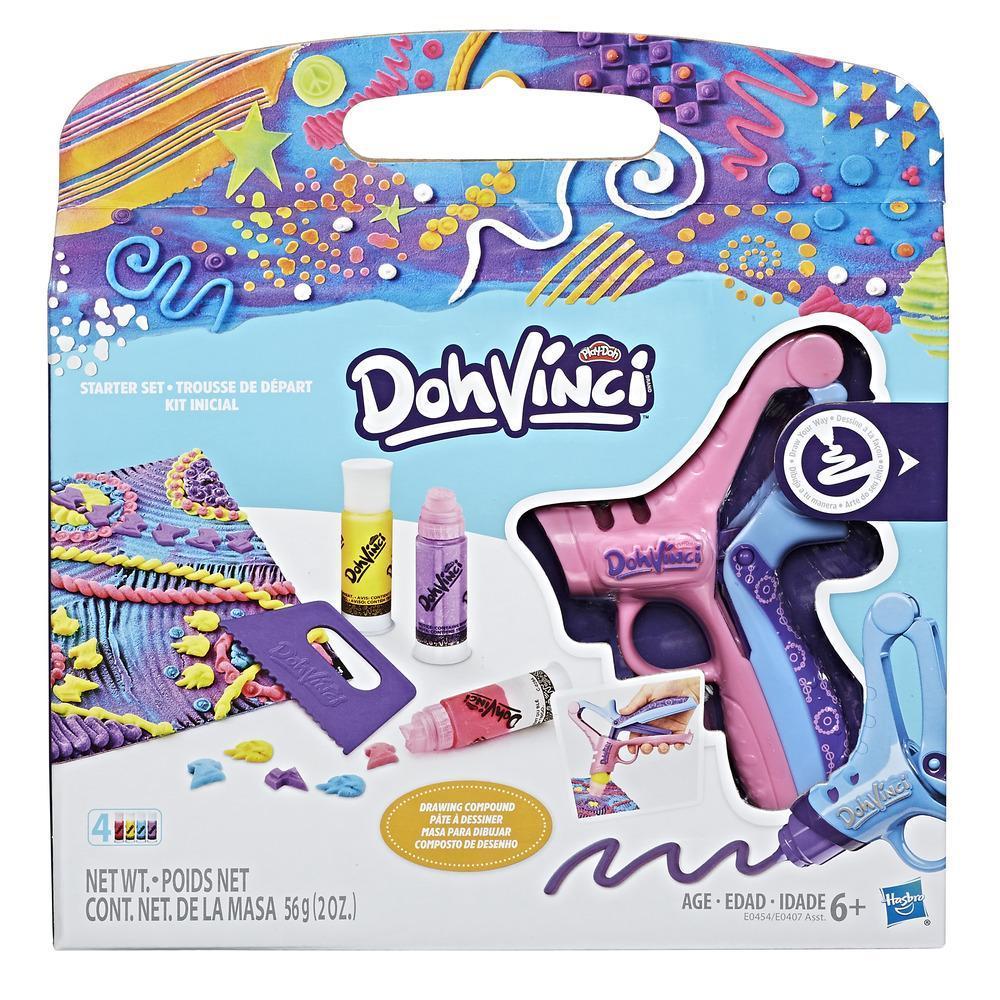 Play-Doh DohVinci - Kit inicial con herramientas de sello y raspado