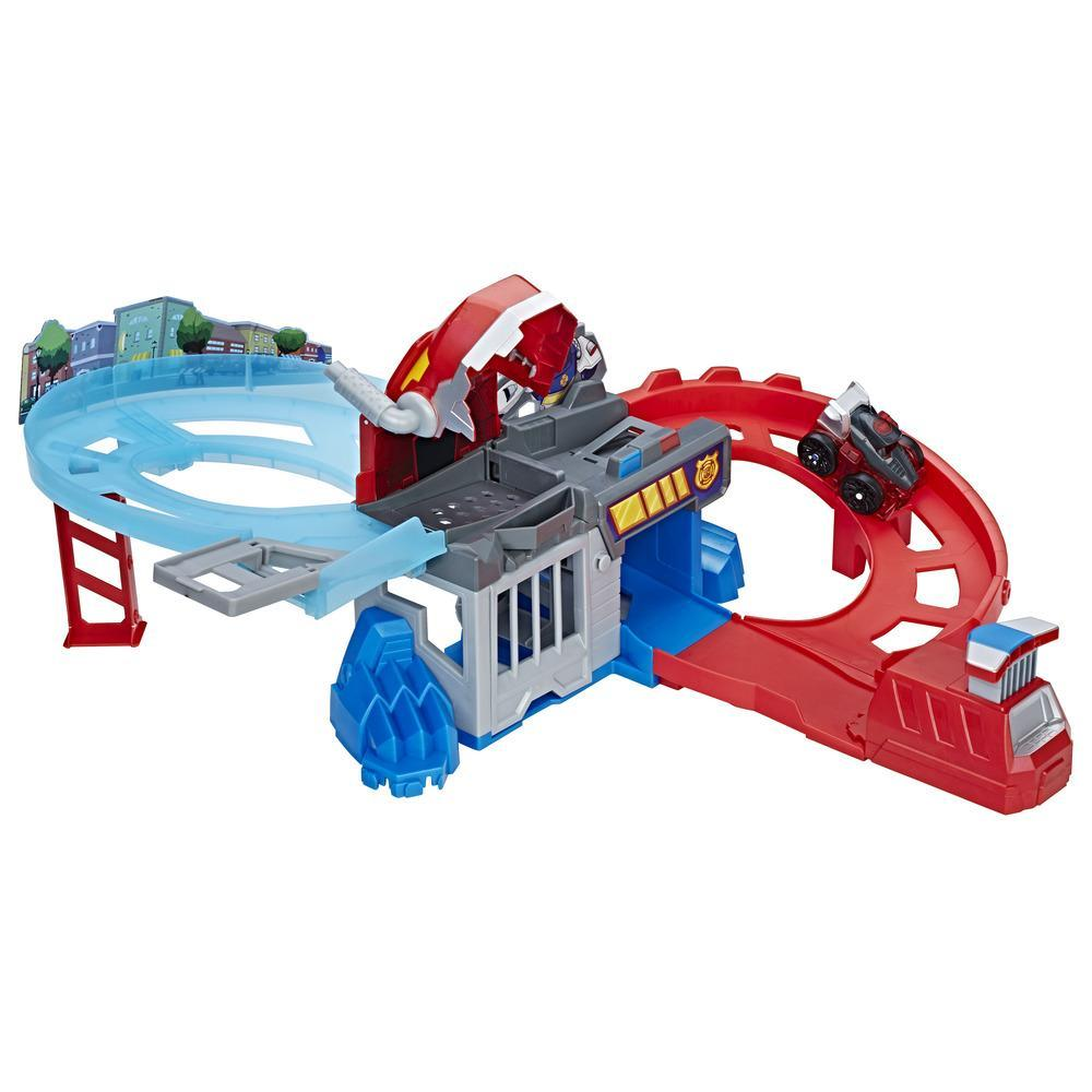 Playskool Heroes Transformers Rescue Bots Flip Racers - Pista Persigue y captura