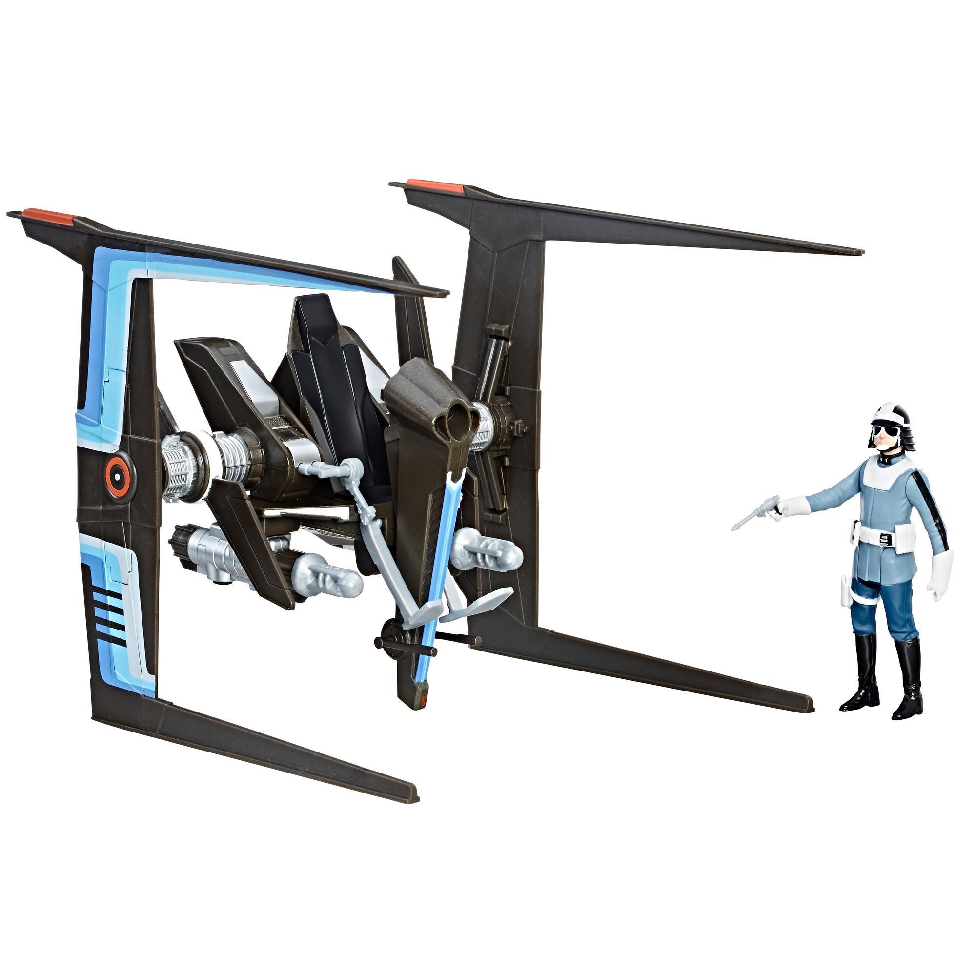 Star Wars Force Link - Deslizador de la policía de Canto Bight y figura de policía de Canto Bight
