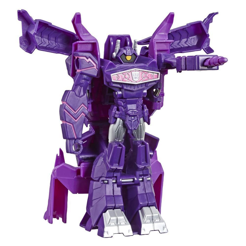 Juguetes Transformers Cyberverse Action Attackers: Cambiador de 1 paso - Figura de acción de Shockwave