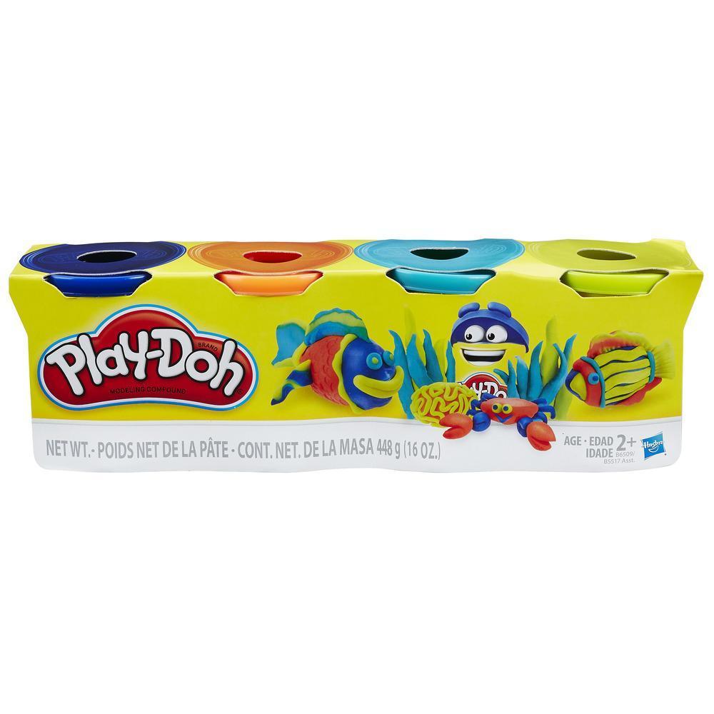Paquete de 4 colores brillantes Play-Doh