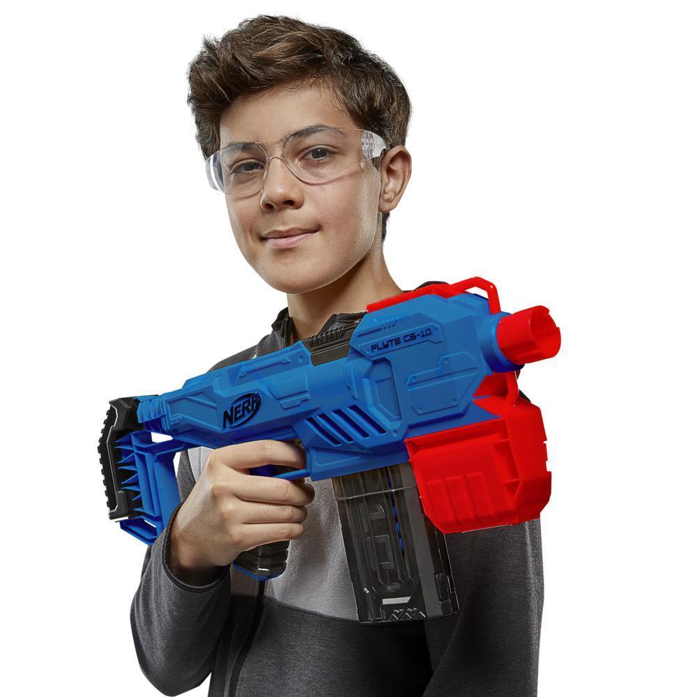 Lanzador motorizado Nerf Alpha Strike Flyte CS-10 - Lanzador de 10 dardos - 20 dardos Nerf Elite oficiales -- Para niños, adolescentes y adultos