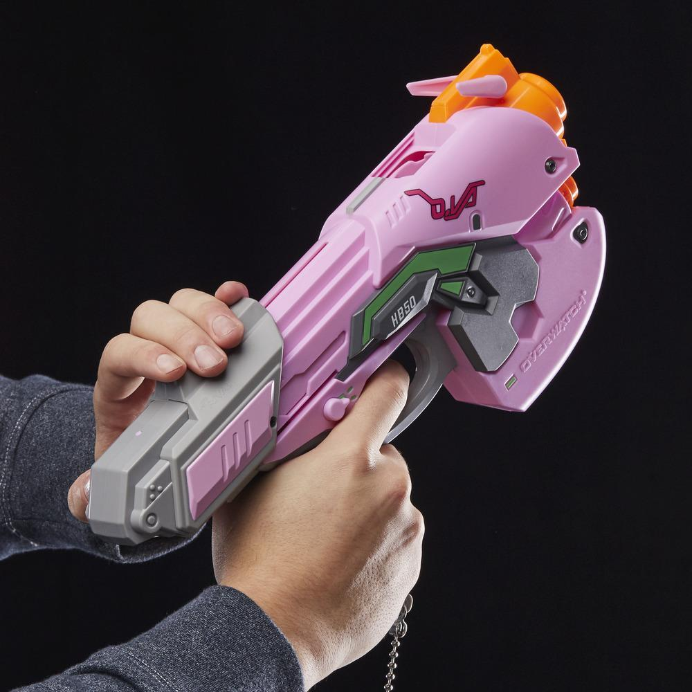 Lanzador Overwatch D.VA Nerf Rival con 3 proyectiles de espuma Overwatch Nerf Rival