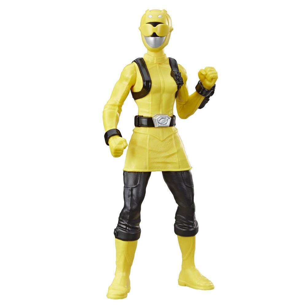 Power Rangers Beast Morphers Yellow Ranger - Figura de 24 cm - Inspirada en la serie Beast Morphers - Edad: 4+