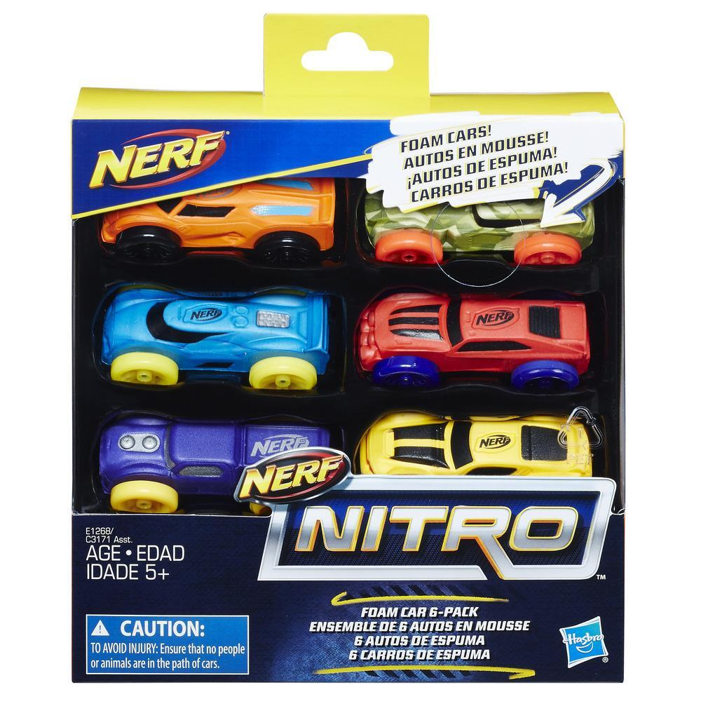 Nerf Nitro - Set de 6 autos de espuma (versión 3)