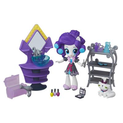 Set de belleza para pijamada pony de Rarity My Little Pony Equestria Girls Minis