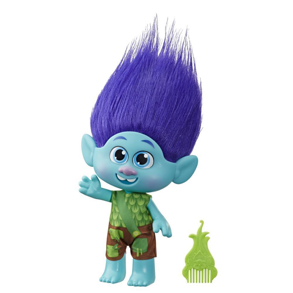 DreamWorks Trolls World Tour - Niño Ramón - Figura con ropa removible y peine - Juguete para niñas de 4 años en adelante