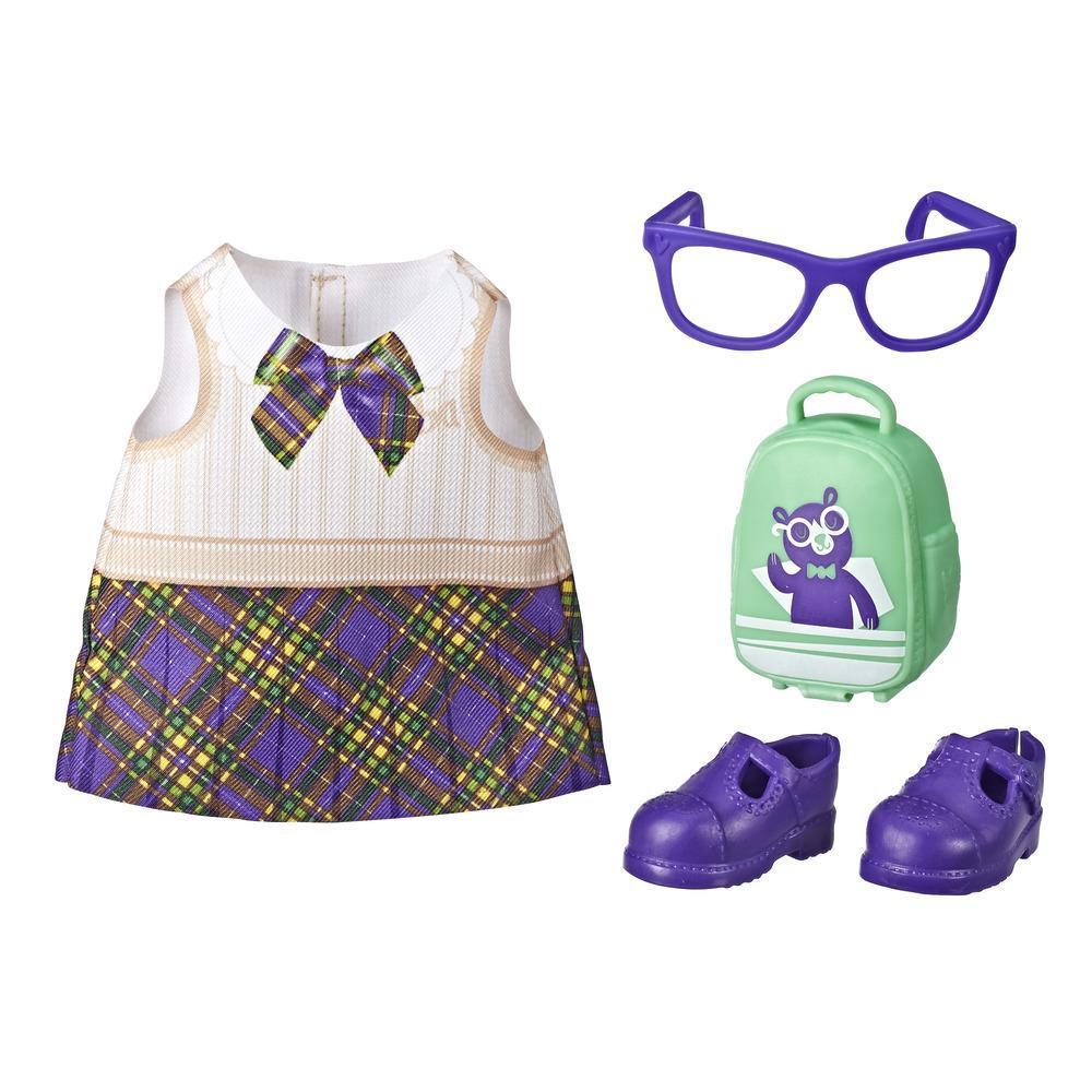 Littles by Baby Alive - Pequeñas modas - Atuendo de ir a la escuela para muñecas Littles