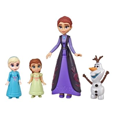 Disney Frozen - Escena familiar - Set de muñecas de Elsa, Anna, Queen Iduna y figura de Olaf, inspirado en la película Frozen 2 de Disney