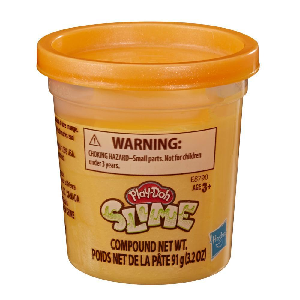 Play-Doh - Slime - Lata individual de 90,5 gramos de masa viscosa de color naranja metalizado para niños de 3 años en adelante