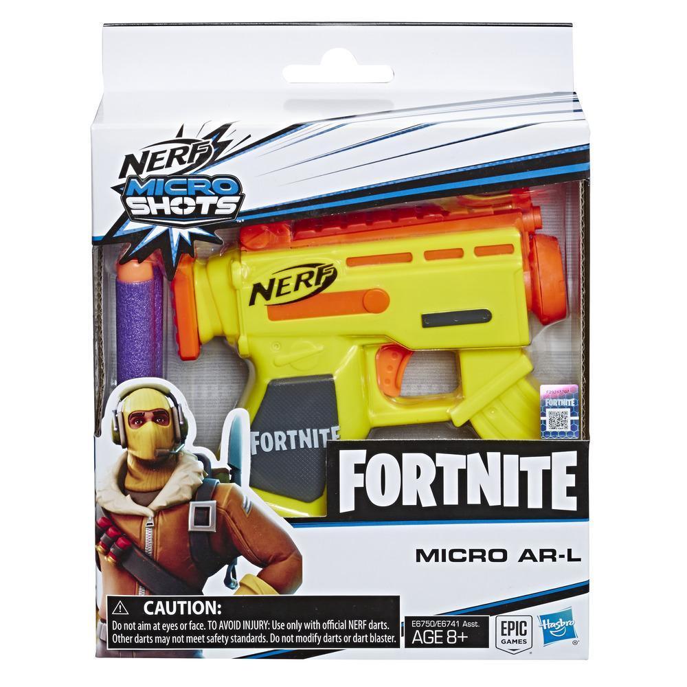Lanzadardos de juguete Micro AR-L Nerf MicroShots y 2 dardos Nerf Elite oficiales