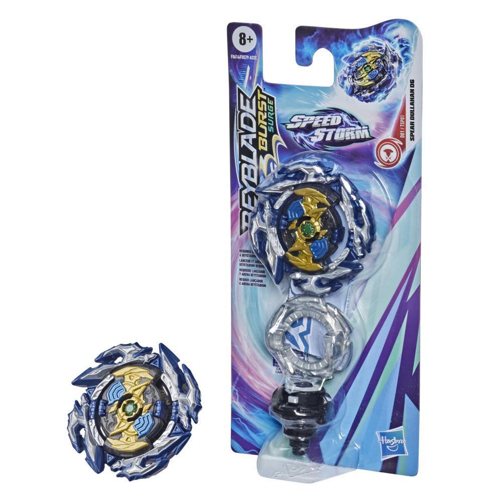 Beyblade Burst Surge Speedstorm - Kit individual - Spear Dullahan D6 - Top de combate - Juguete para niños - Edad: 8+