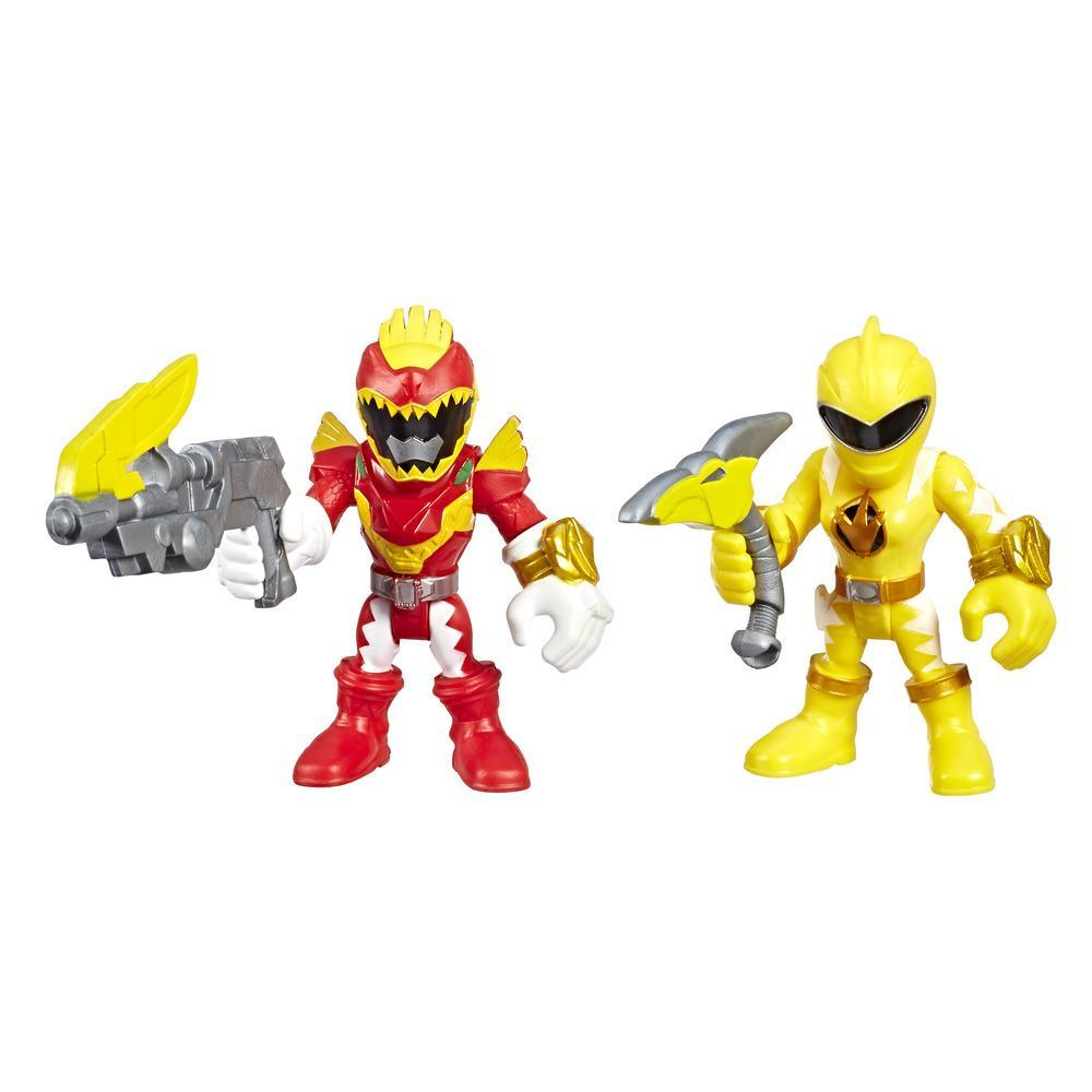 Playskool Heroes Power Rangers Red Ranger y Yellow Ranger