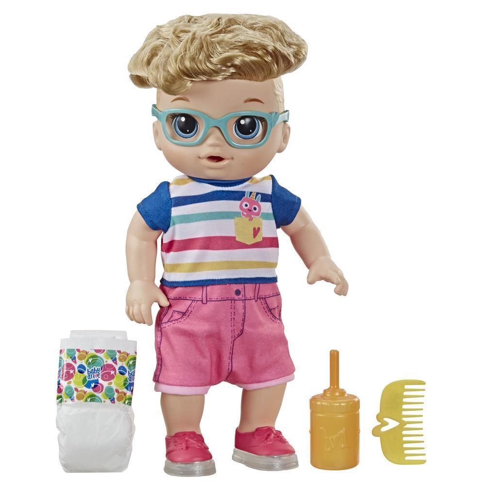 Muñeco Bebé pasos y risas de Baby Alive, con cabello rubio y zapatos que se iluminan