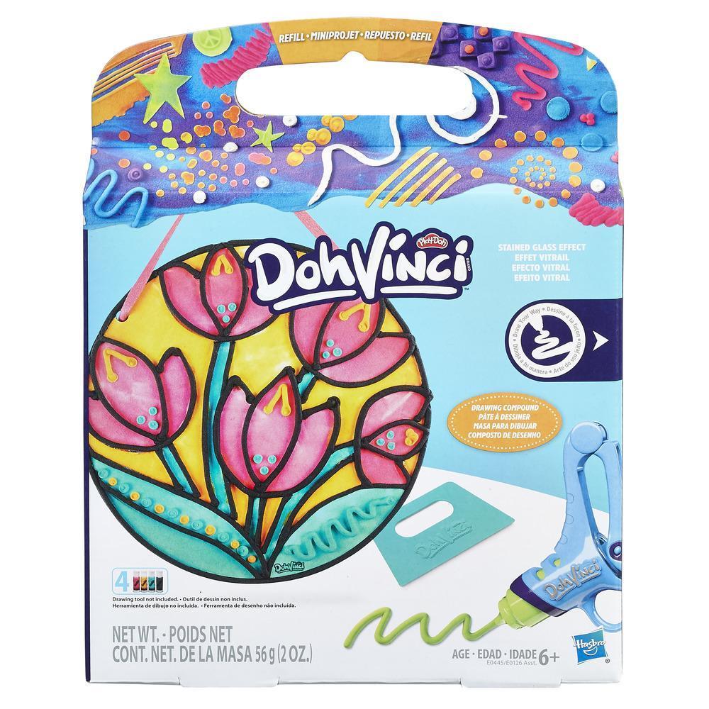 Play-Doh DohVinci Repuesto de juego Efecto vitral - Flor