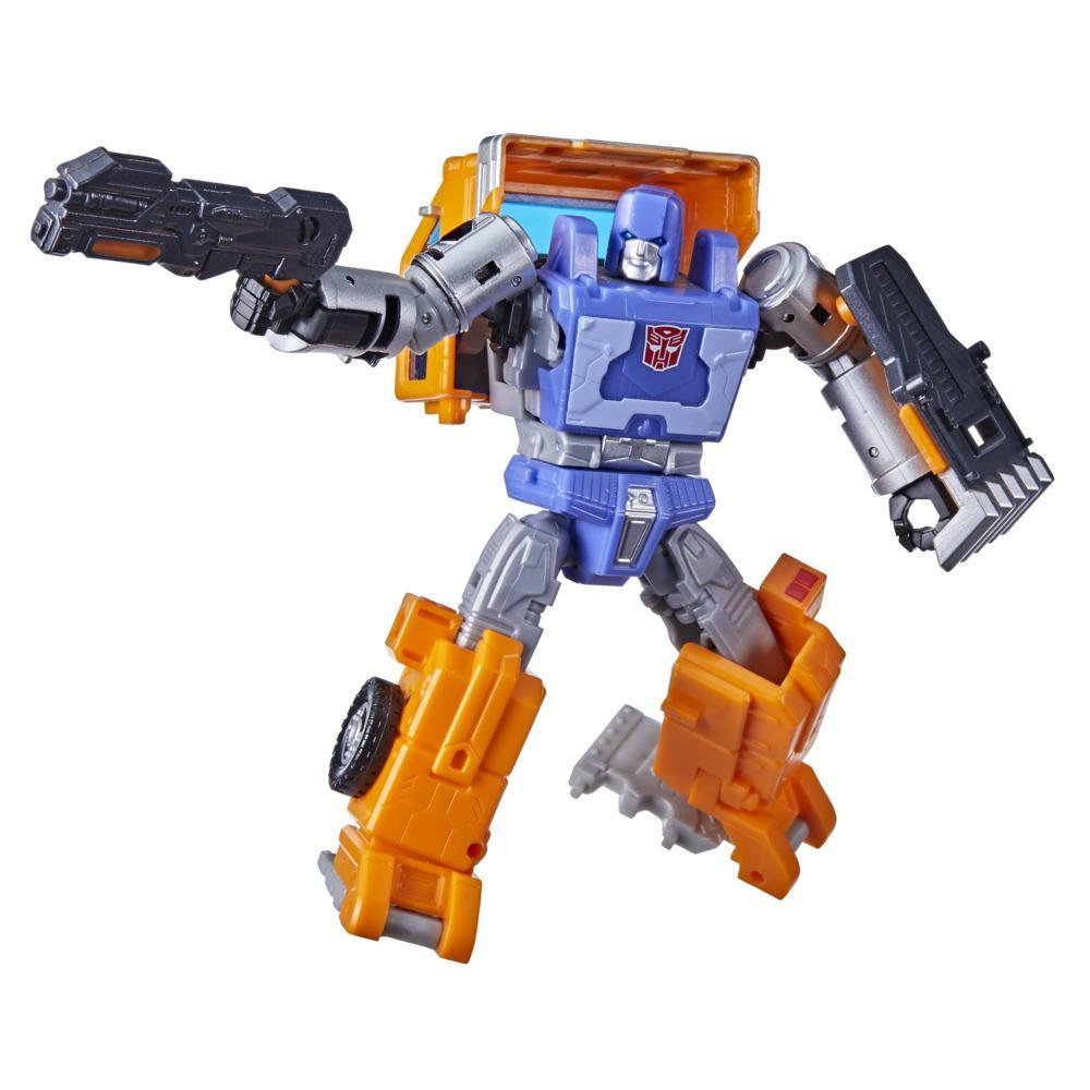 Transformers Generations War for Cybertron: Kingdom - Figura WFC-K16 Huffer clase de lujo