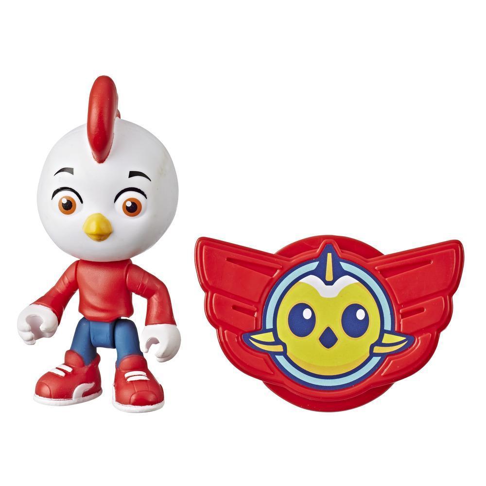 Figura Top Wing de Rod de 7,5 cm e insignia para ponerse del programa de Nick Jr., juguete para niños de 3 años en adelante