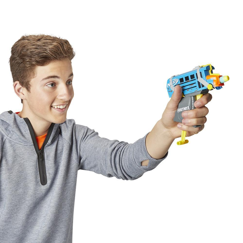 Lanzadardos de juguete Micro bus de combate Nerf MicroShots y 2 dardos Nerf Elite oficiales
