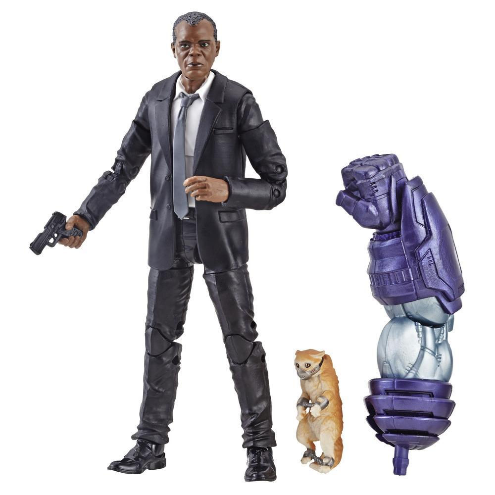 Marvel Captain Marvel - Figura Legends de Nick Fury para coleccionistas, chicos y fans