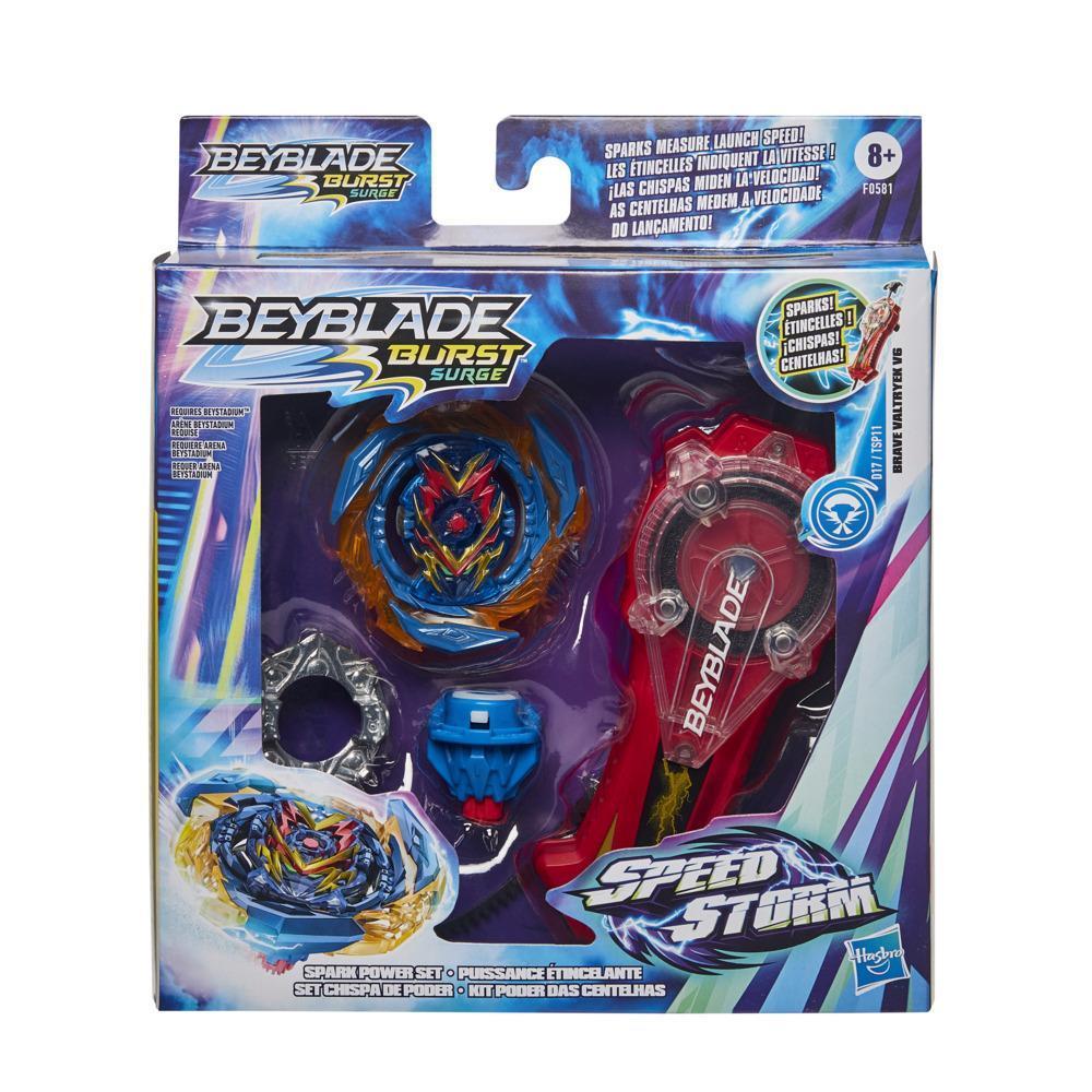 Beyblade Burst Surge Speedstorm - Set Chispa de poder -- Set de batalla con lanzador y top de batalla de rotación derecha