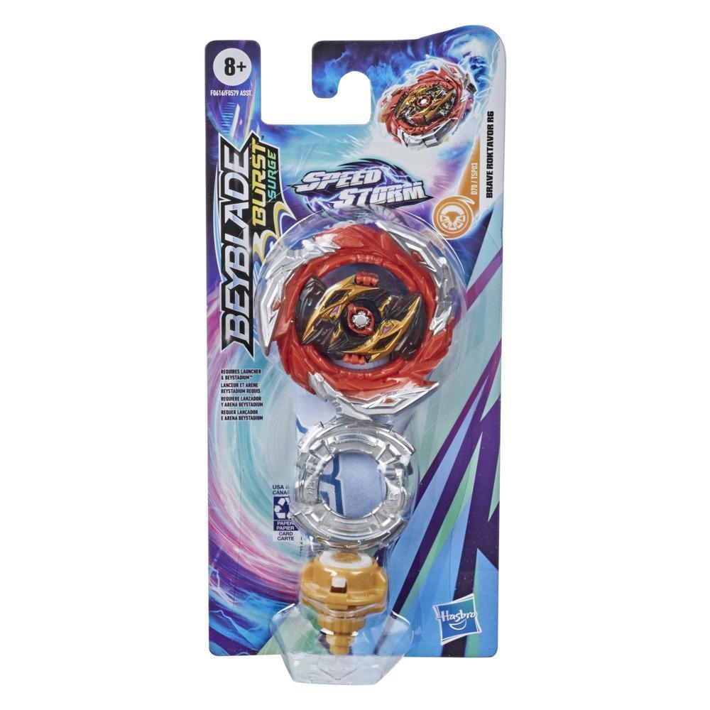 Beyblade Burst Surge Speedstorm - Kit individual - Brave Roktavor R6 - Top de combate - Juguete para niños - Edad: 8+