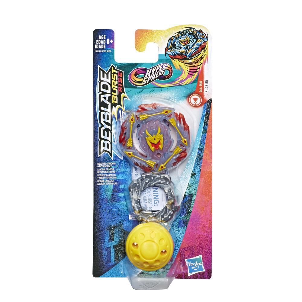 Beyblade Burst Rise Hypersphere Rudr R5 - Kit individual -- Top de combate tipo equilibrio, Edad: 8+