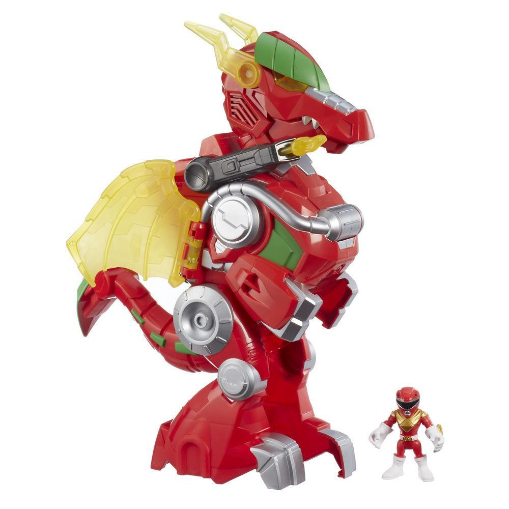 Playskool Heroes Power Rangers  - Red Ranger y Dragon Thunderzord