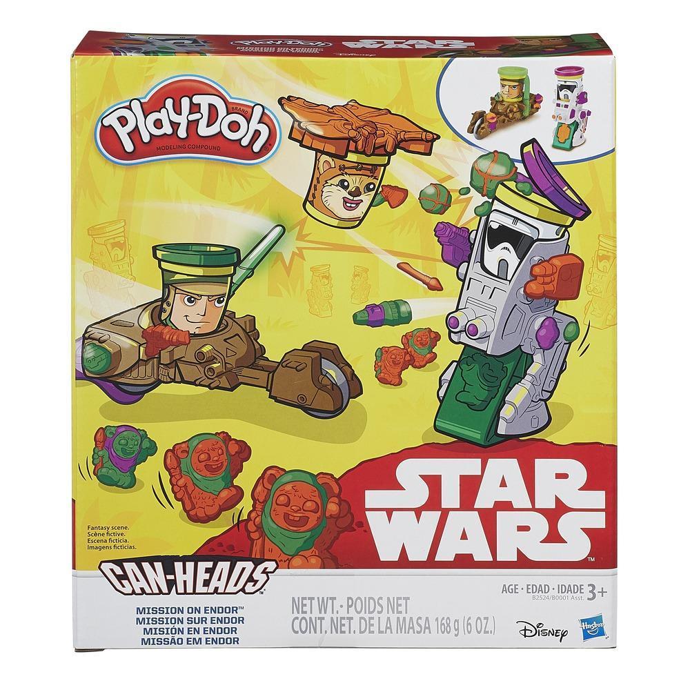 Misión en Endor Play-Doh Star Wars con Can-Heads
